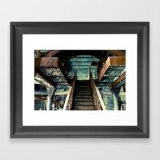 Original Rainier Brewery Stairs Framed Art Print