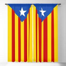 Estelada Blava - Senyeraestelada, Banner version Blackout Curtain