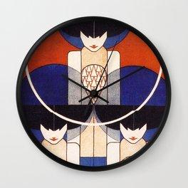 Art Nouveau Vintage Retro Poster by Koloman Moser Wall Clock
