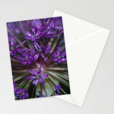 Purple Burst Stationery Cards