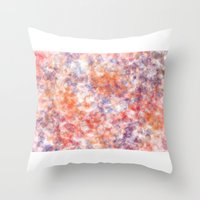 sprinkles Throw Pillows featuring Sprinkles by Flavia Dacol