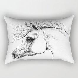 Arabian horse drawing Rectangular Pillow