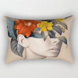 woman with flowers 8 Rectangular Pillow