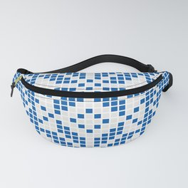 Blue & White Ethnic Pattern Fanny Pack