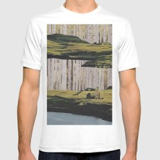 Collage No.51 Mens Fitted Tee MEDIUM White