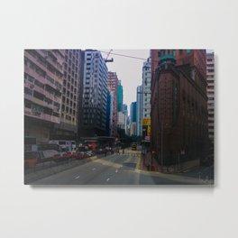 Hong Kong Triangle Metal Print