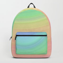 Abstract Pastel Rainbow I Cute abstract circles, gradient pattern Backpack