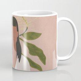 Elegant Lady holding a Flower Coffee Mug