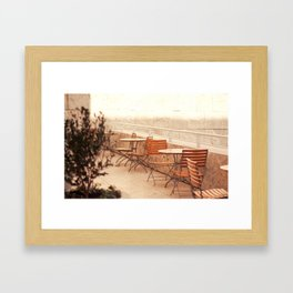 Getty Museum - Table with a view Framed Art Print