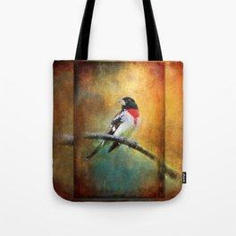 Rose-breasted Grosbeak ~ Ginkelmier Inspired Tote Bag