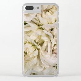 White Dahlias Clear iPhone Case