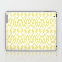 Decorative Plumes - White on Lemon Sherbert Laptop & iPad Skin