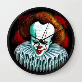 The Dancing Clown - Pennywise IT - Vector - Stephen King Character Wall Clock