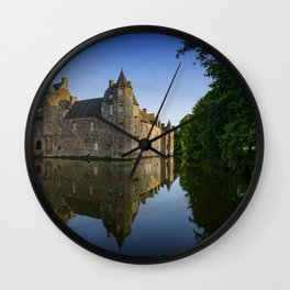 Chateau de Trecesson 2 Wall Clock