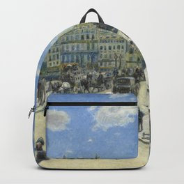 Auguste Renoir Pont Neuf, Paris 1872 Painting Backpack