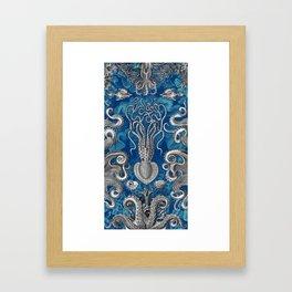 The Kraken (Blue - No Text) Framed Art Print