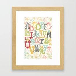 ABC i heart u Framed Art Print
