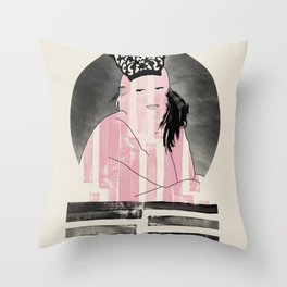 Peineta Throw Pillow