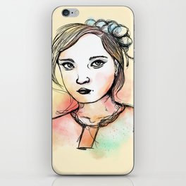 Ink Girl III iPhone Skin