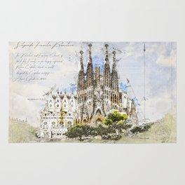 Sagrada Familia, Barcelona Spain Rug