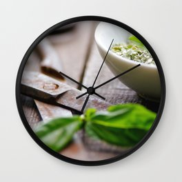Herbs Kitchen still life from Basil Wall Clock