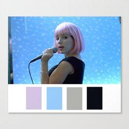 Scarlett Johansson Tokyo Karaoke Canvas Print