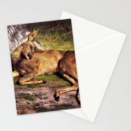 A Roe Deer In The Forest - Digital Remastered Edition Stationery Cards