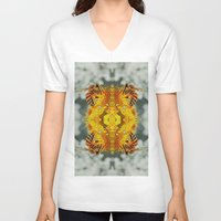 bees V-neck T-shirts featuring bees by Abraham Cervantes