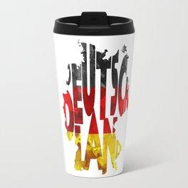 Deutschland Typographic World Map / Germany Typography Flag Map Art Travel Mug