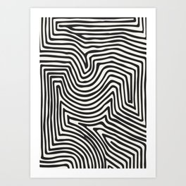 Abstract Line Art, Black And White Art, Abstract Art Print, Minimalist Poster, Abstract, Abstract Pr Art Print