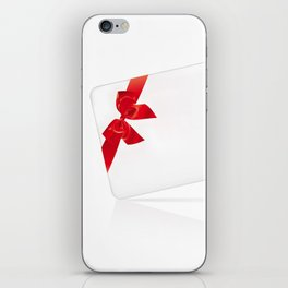 Card with red bow iPhone Skin