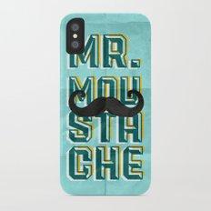 mr moustache Slim Case iPhone X