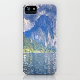 Traunsee Lake Austria Art iPhone Case