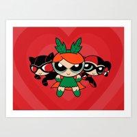 Supervillain Girls Art Print