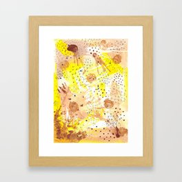 Dots and shapes Framed Art Print