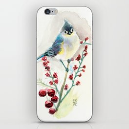 Blue Bird Tufted Titmouse iPhone Skin