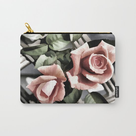 Pink Rose Garden - Painterly Carry-All Pouch