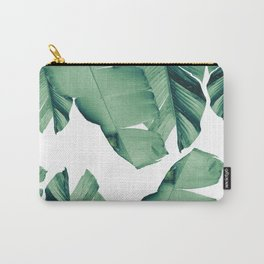 Banana Leaves Tropical Vibes #4 #foliage #decor #art #society6 Carry-All Pouch