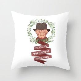 Freddy Krueger Christmas Throw Pillow
