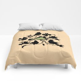 Virginia - State Papercut Print Comforters