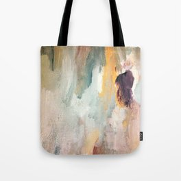 Gentle Beauty - an elegant acrylic piece in deep purple, red, gold, and white Tote Bag
