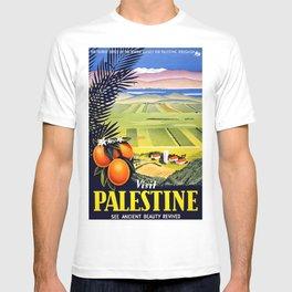 Palestine, vintage travel poster T-shirt