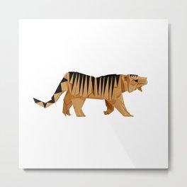 Origami Tiger Metal Print
