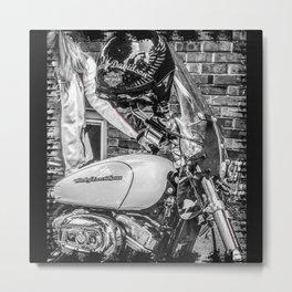 Steel Horse Metal Print