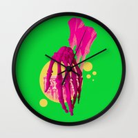 bones Wall Clocks featuring Bones by Love2Laugh