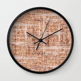 Textured Tweed - Neutral Cream Wall Clock