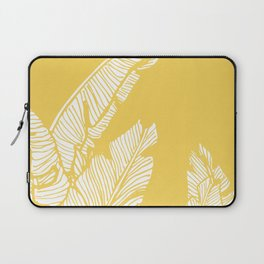Banana Leaves on Yellow #society6 #decor #buyart Laptop Sleeve