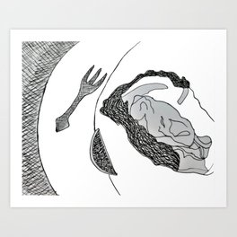 Oyster on the Half Shell Art Print