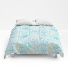 icy snowflakes Comforters