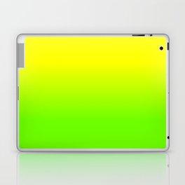 Neon Yellow and Neon Yello Green Ombré  Shade Color Fade Laptop & iPad Skin